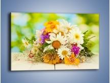 Obraz na płótnie – Bukiecik dla małej ogrodniczki – jednoczęściowy prostokątny poziomy K369