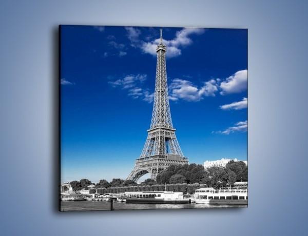 Obraz na płótnie – Wieża Eiffla w kolorze szarości – jednoczęściowy kwadratowy AM497
