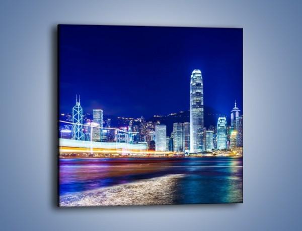 Obraz na płótnie – Panorama Hong Kongu – jednoczęściowy kwadratowy AM499