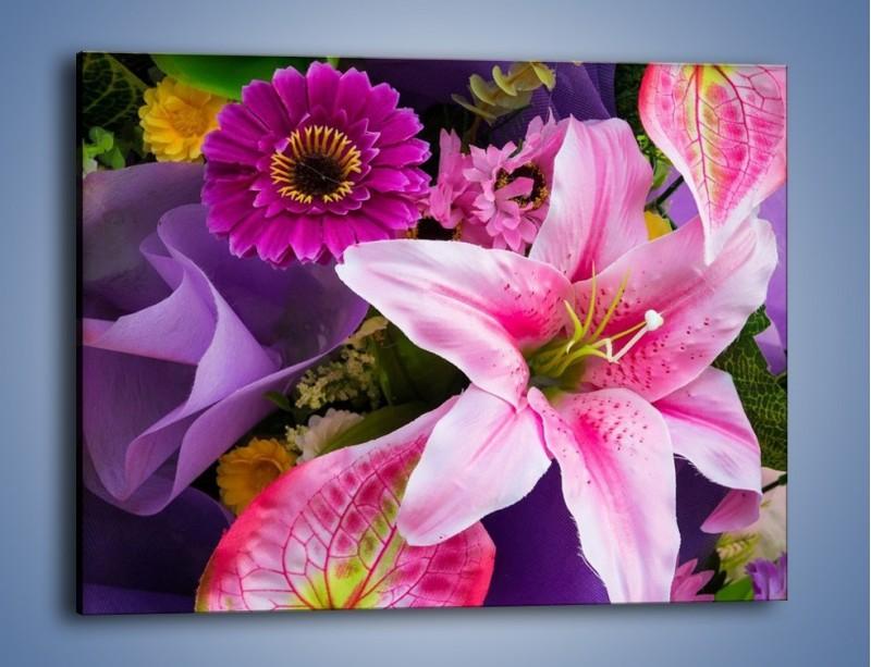 Obraz na płótnie – Barwna letnia wiązanka – jednoczęściowy prostokątny poziomy K460