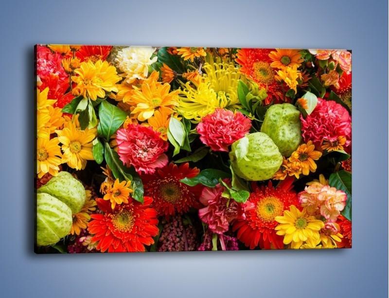 Obraz na płótnie – Bukiet pełen soczystych kolorów – jednoczęściowy prostokątny poziomy K461
