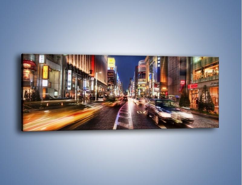 Obraz na płótnie – Tokyo w ruchu – jednoczęściowy panoramiczny AM015