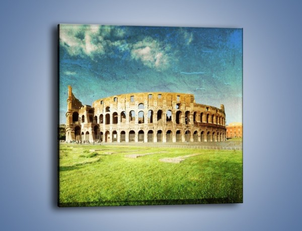 Obraz na płótnie – Koloseum w stylu vintage – jednoczęściowy kwadratowy AM503