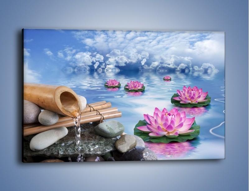 Obraz na płótnie – Baśniowy świat kwiatów – jednoczęściowy prostokątny poziomy K624