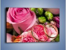Obraz na płótnie – Obietnice miłość i róże – jednoczęściowy prostokątny poziomy K685
