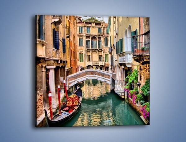 Obraz na płótnie – Wenecka wodna uliczka – jednoczęściowy kwadratowy AM508