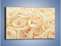 Obraz na płótnie – Bukiet herbacianych róż – jednoczęściowy prostokątny poziomy K710