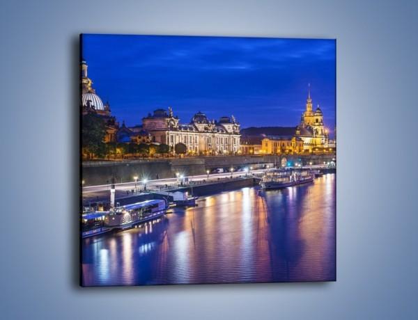Obraz na płótnie – Drezno nad rzeką Łeba – jednoczęściowy kwadratowy AM515