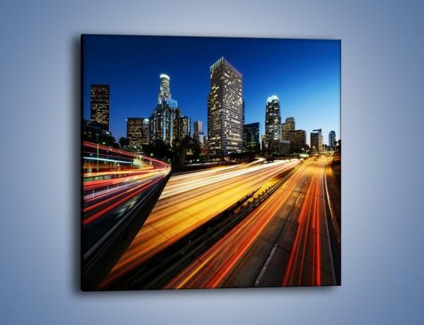 Obraz na płótnie – Ulice Los Angeles w ruchu samochodów – jednoczęściowy kwadratowy AM516