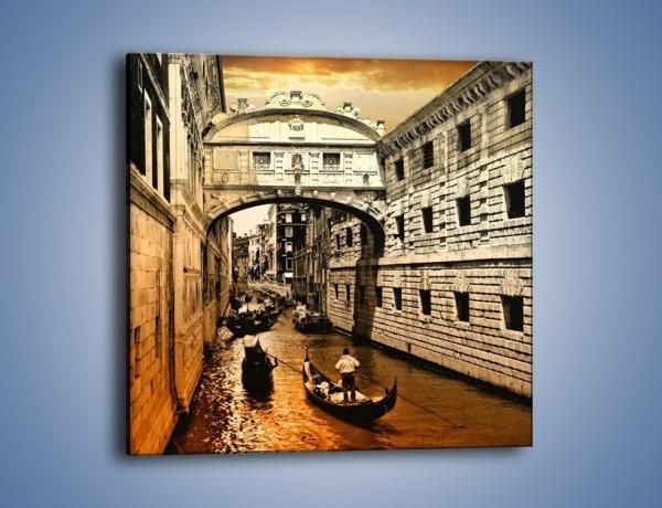 Obraz na płótnie – Most Westchnień w Wenecji – jednoczęściowy kwadratowy AM518