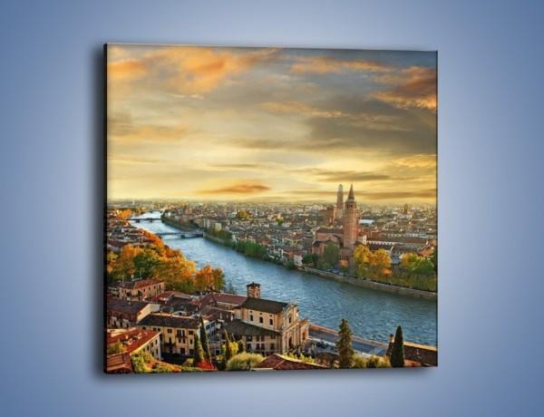 Obraz na płótnie – Verona we Włoszech – jednoczęściowy kwadratowy AM519