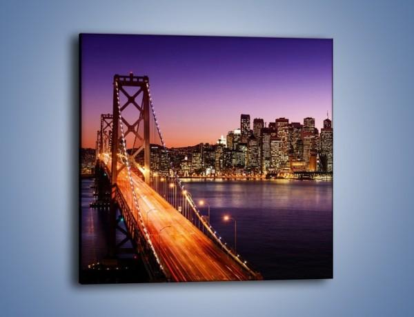 Obraz na płótnie – San Francisco – Oakland Bay Bridge – jednoczęściowy kwadratowy AM520
