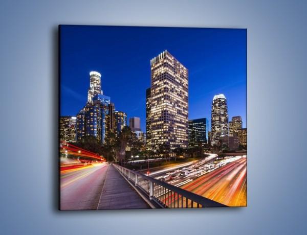 Obraz na płótnie – Los Angeles w wieczornych światłach – jednoczęściowy kwadratowy AM522