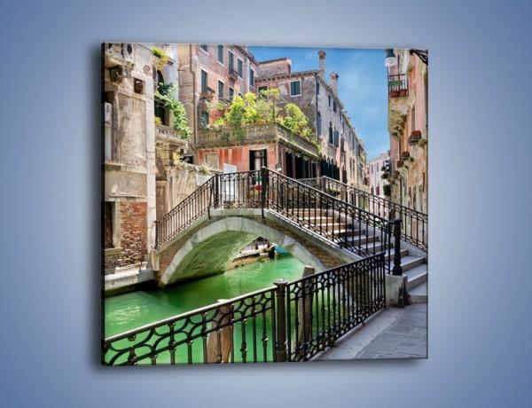 Obraz na płótnie – Wenecki most – jednoczęściowy kwadratowy AM523