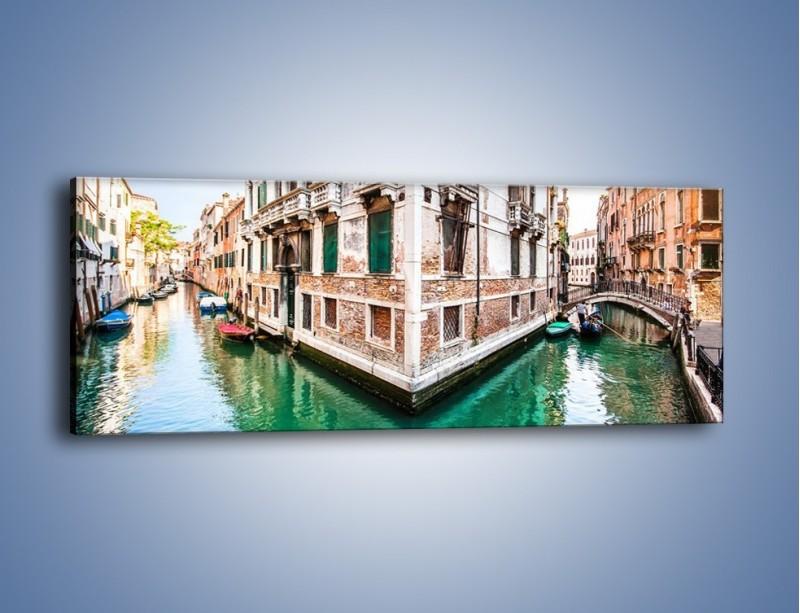 Obraz na płótnie – Skrzyżowanie wodne w Wenecji – jednoczęściowy panoramiczny AM081