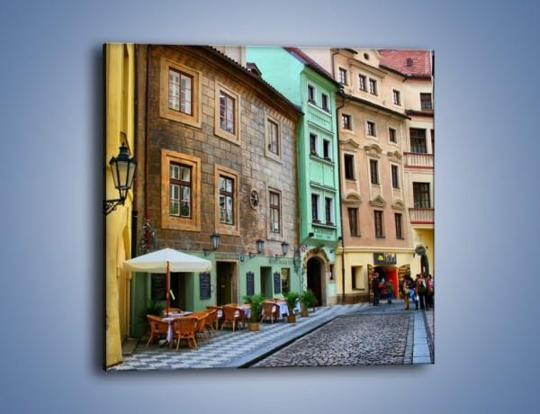 Obraz na płótnie – Złota Ulica w Pradze – jednoczęściowy kwadratowy AM524