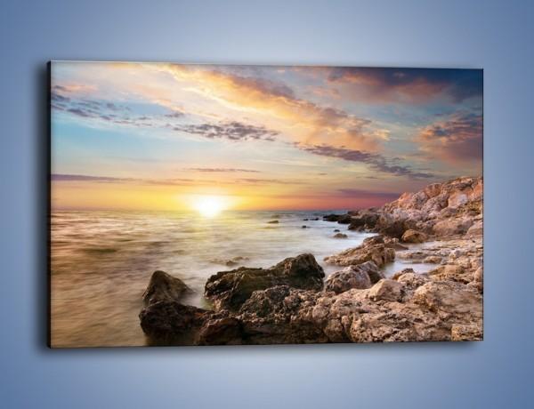Obraz na płótnie – Skalisty brzeg morza – jednoczęściowy prostokątny poziomy KN018