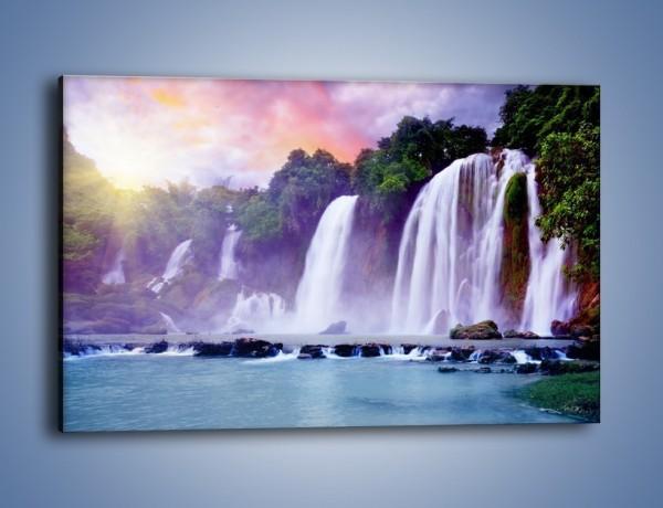 Obraz na płótnie – Wodospady jak z bajki – jednoczęściowy prostokątny poziomy KN026