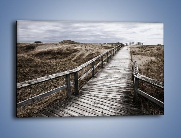 Obraz na płótnie – Szary most do nieba – jednoczęściowy prostokątny poziomy KN031
