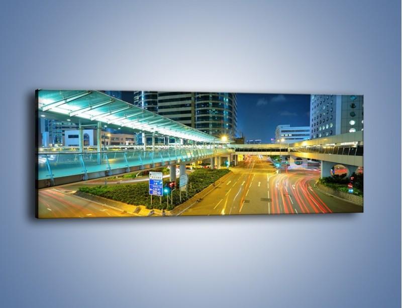 Obraz na płótnie – Droga na lotnisko w Japonii – jednoczęściowy panoramiczny AM088