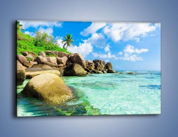 Obraz na płótnie – Lazurowa woda w tropikach – jednoczęściowy prostokątny poziomy KN035