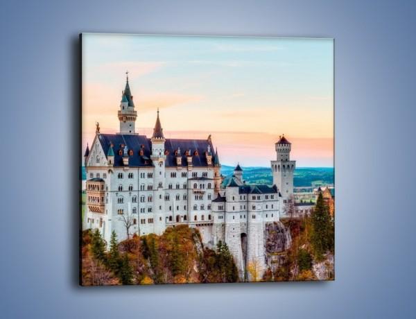 Obraz na płótnie – Zamwek Neuschwanstein w Bawarii – jednoczęściowy kwadratowy AM526
