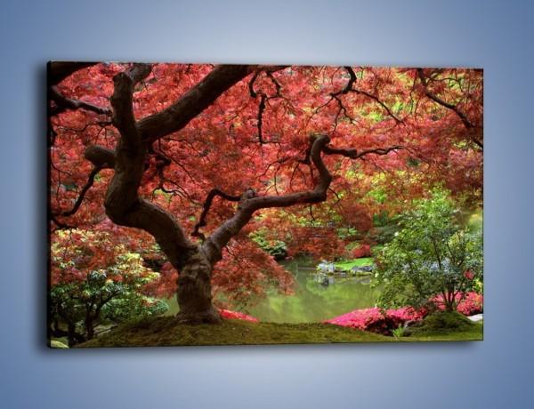 Obraz na płótnie – Pejzaż jak w raju – jednoczęściowy prostokątny poziomy KN069