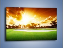 Obraz na płótnie – Zielony dywan i drzewa – jednoczęściowy prostokątny poziomy KN1004