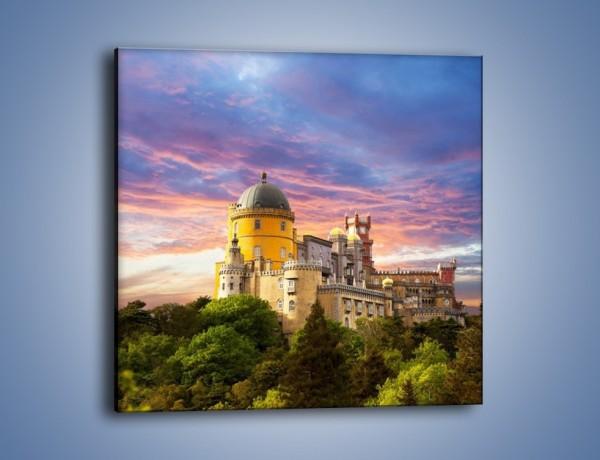 Obraz na płótnie – Pałac Pena w Portugalii – jednoczęściowy kwadratowy AM527