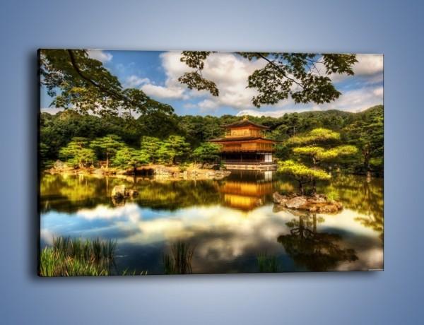 Obraz na płótnie – Widok z domu na wodę – jednoczęściowy prostokątny poziomy KN1030