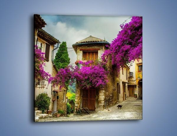 Obraz na płótnie – Stare miasto na Prowansji – jednoczęściowy kwadratowy AM529