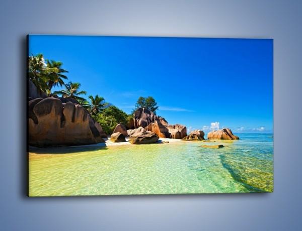 Obraz na płótnie – Bezludna wyspa i ja – jednoczęściowy prostokątny poziomy KN1058