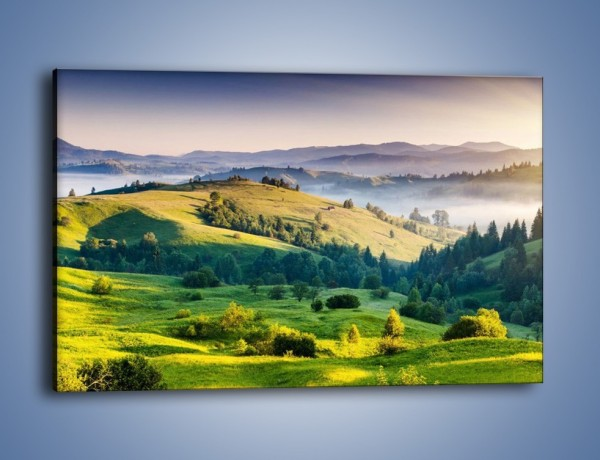 Obraz na płótnie – Tylko zieleń i góry – jednoczęściowy prostokątny poziomy KN1084