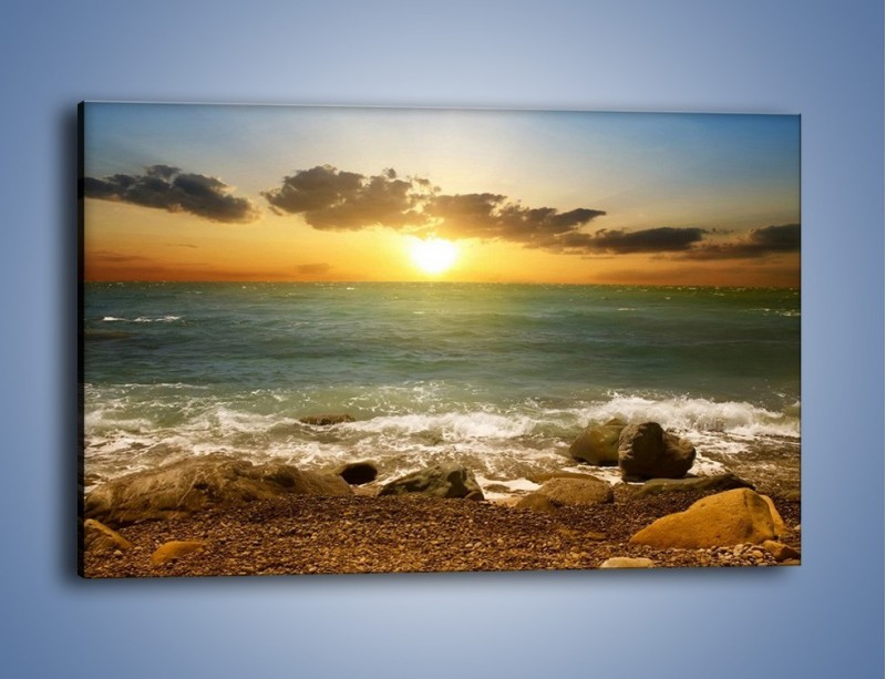 Obraz na płótnie – Brzegiem w stronę morza – jednoczęściowy prostokątny poziomy KN1092A
