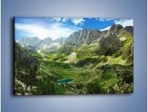 Obraz na płótnie – Górskie oczka wodne – jednoczęściowy prostokątny poziomy KN1097