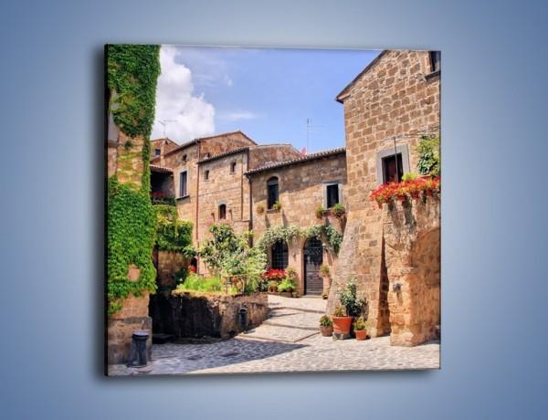 Obraz na płótnie – Romantyczna uliczka we Włoszech – jednoczęściowy kwadratowy AM533