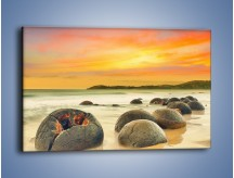 Obraz na płótnie – Popękane kamienne arbuzy – jednoczęściowy prostokątny poziomy KN1125A