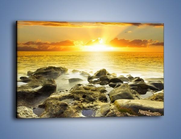 Obraz na płótnie – Morze o zachodzie słońca – jednoczęściowy prostokątny poziomy KN1139A