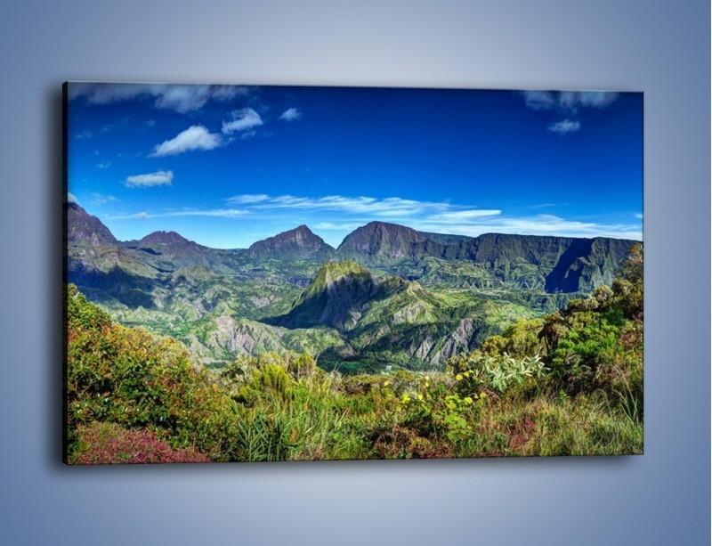 Obraz na płótnie – Cały góry pokryte zielenią – jednoczęściowy prostokątny poziomy KN1140A