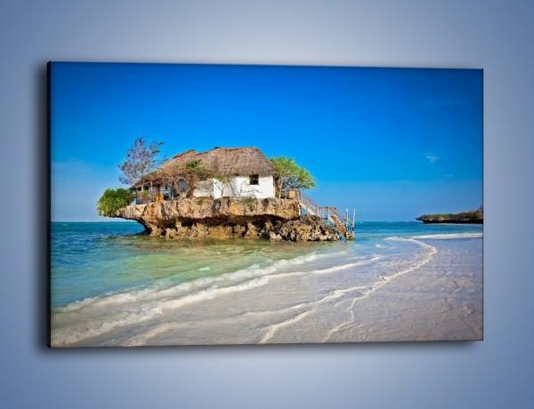 Obraz na płótnie – Dom na skarpie – jednoczęściowy prostokątny poziomy KN1150A