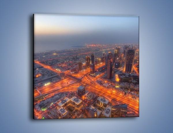 Obraz na płótnie – Panorama Dubaju o poranku – jednoczęściowy kwadratowy AM538