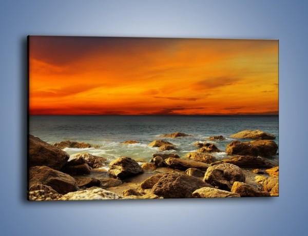 Obraz na płótnie – Pomarańcz i czerwień na niebie – jednoczęściowy prostokątny poziomy KN1164A