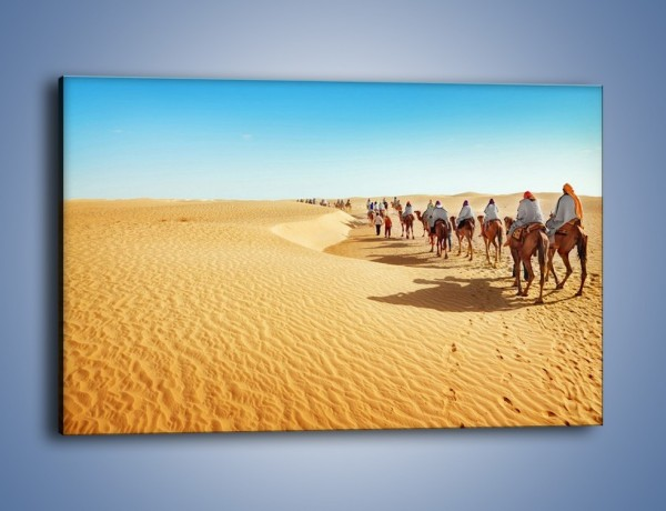 Obraz na płótnie – Szła karawana przez pustynię – jednoczęściowy prostokątny poziomy KN1173A