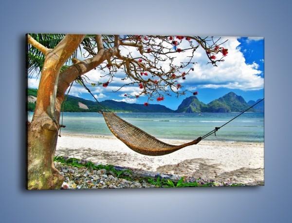 Obraz na płótnie – A może by odpocząć na hamaku? – jednoczęściowy prostokątny poziomy KN1199A