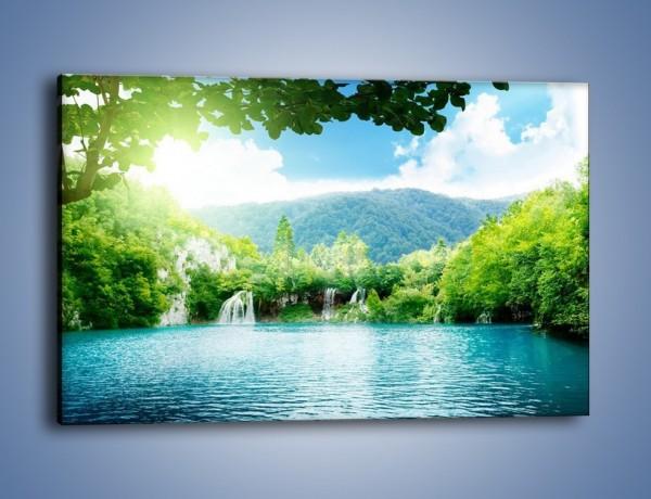 Obraz na płótnie – Kąpiel w chłodnej wodzie – jednoczęściowy prostokątny poziomy KN1200A