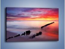 Obraz na płótnie – Niebo pędzlem malowane – jednoczęściowy prostokątny poziomy KN1230A