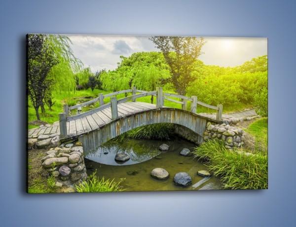Obraz na płótnie – Mały mostek przez rzeczkę – jednoczęściowy prostokątny poziomy KN1254A