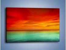Obraz na płótnie – Horyzont w kolorach tęczy – jednoczęściowy prostokątny poziomy KN1303A