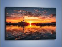 Obraz na płótnie – Widok z latarni na zachód słońca – jednoczęściowy prostokątny poziomy KN1316A