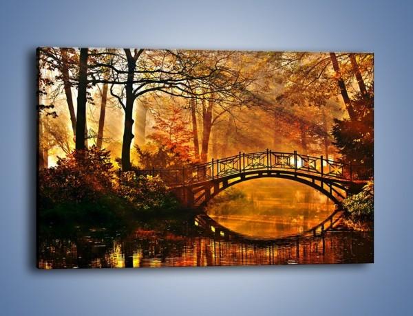 Obraz na płótnie – Cudowny spacer jesienną porą – jednoczęściowy prostokątny poziomy KN1319A
